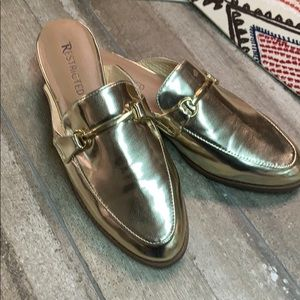 Restricted Gold Slip Ons